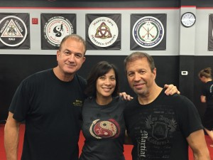 Guro David with Diana Lee Inosanto and Guro Ron Balicki